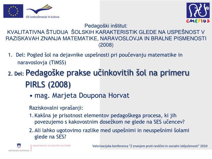 Pedagoški inštitut: