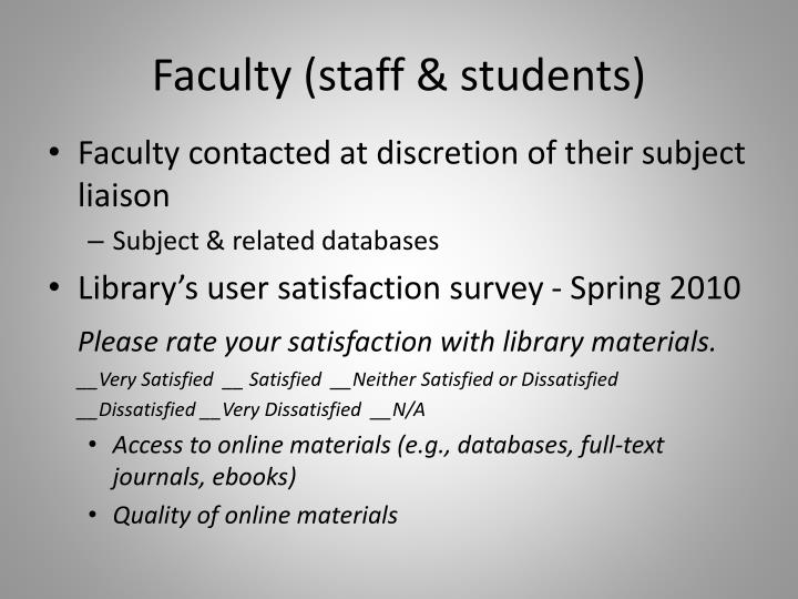 Faculty (staff & students)