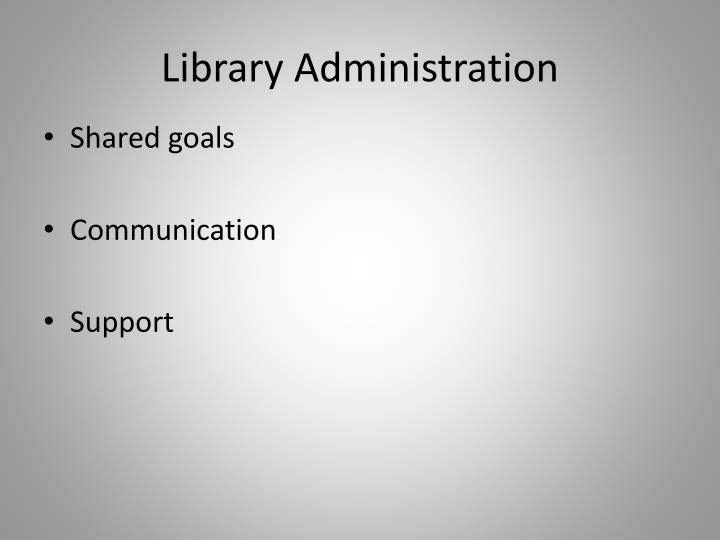 Library Administration