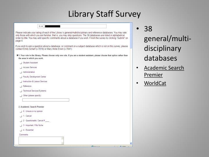 Library Staff Survey