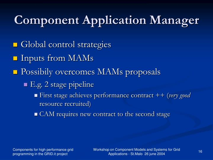 Component Application Manager