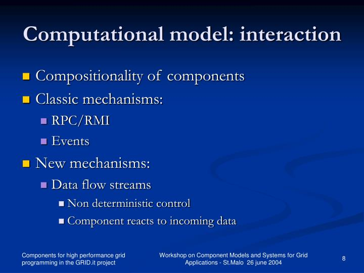 Computational model: interaction