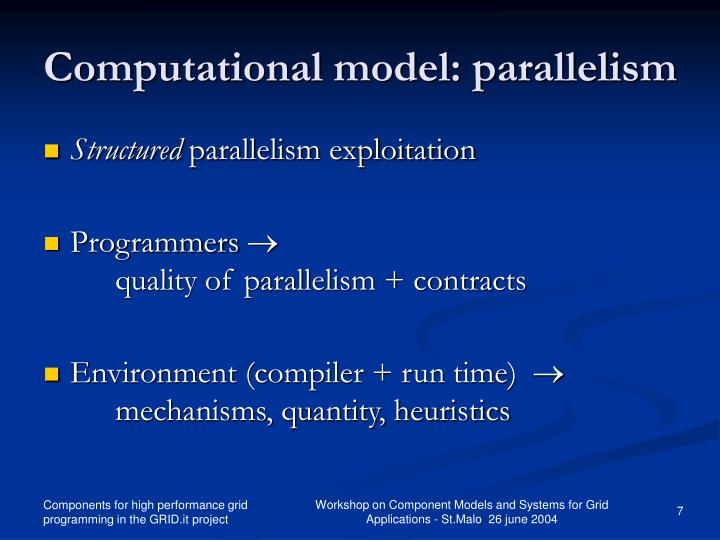 Computational model: parallelism