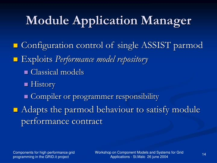 Module Application Manager