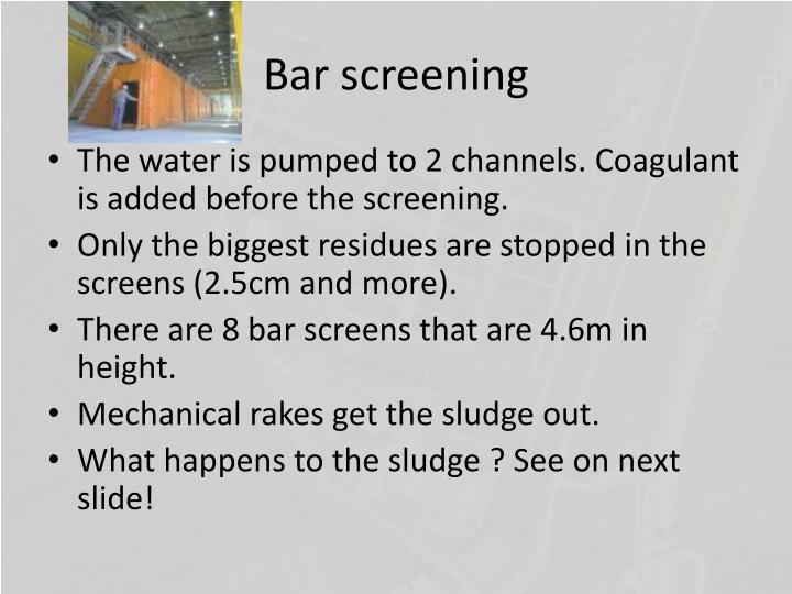 Bar screening