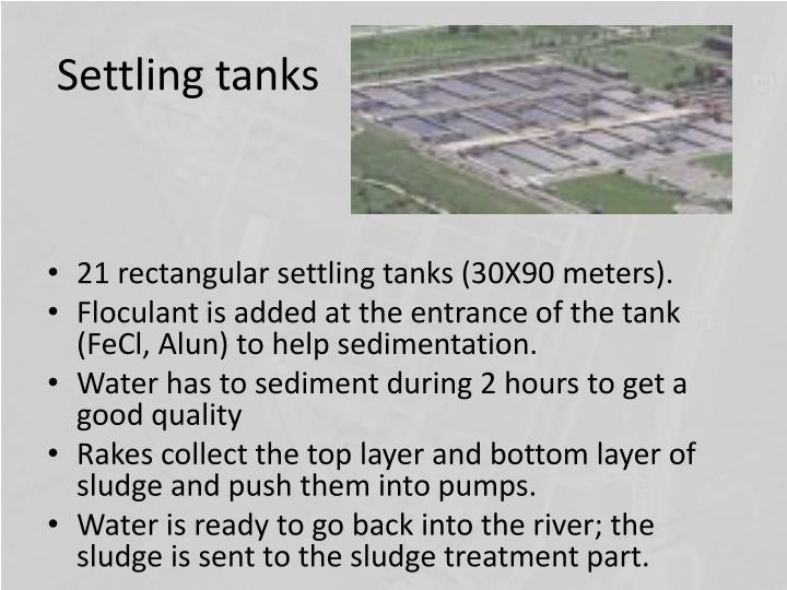 Settling tanks