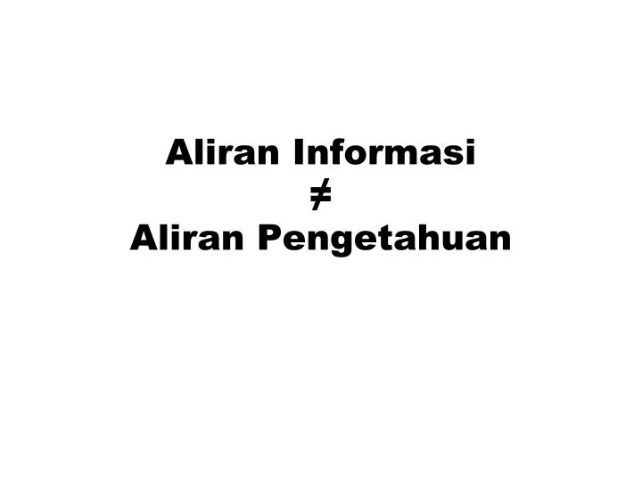 Aliran Informasi