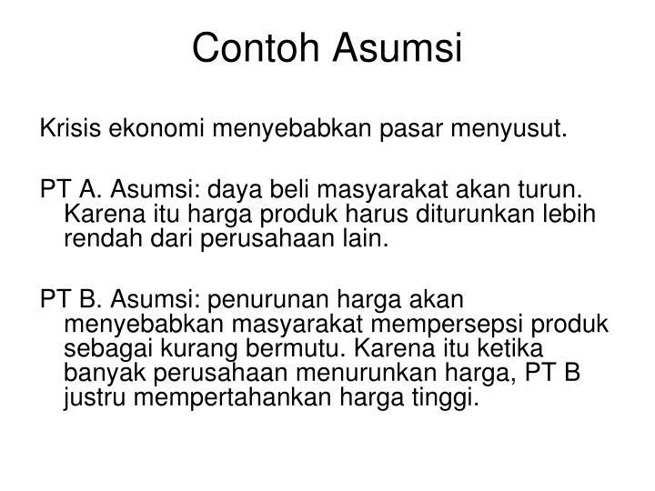 Contoh Asumsi