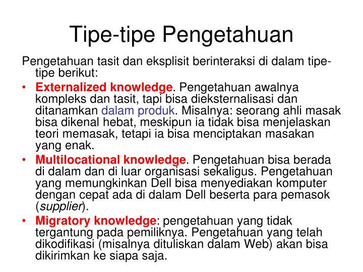 Tipe-tipe Pengetahuan