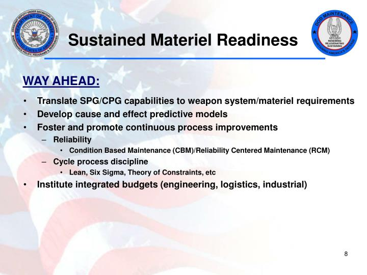 Sustained Materiel Readiness