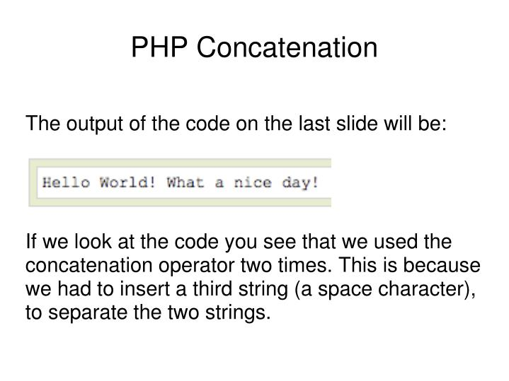 The output of the code on the last slide will be: