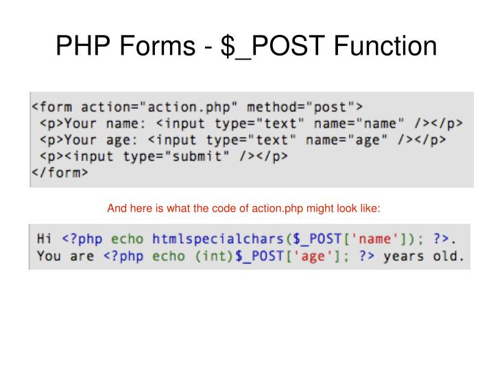 PHP Forms - $_POST Function