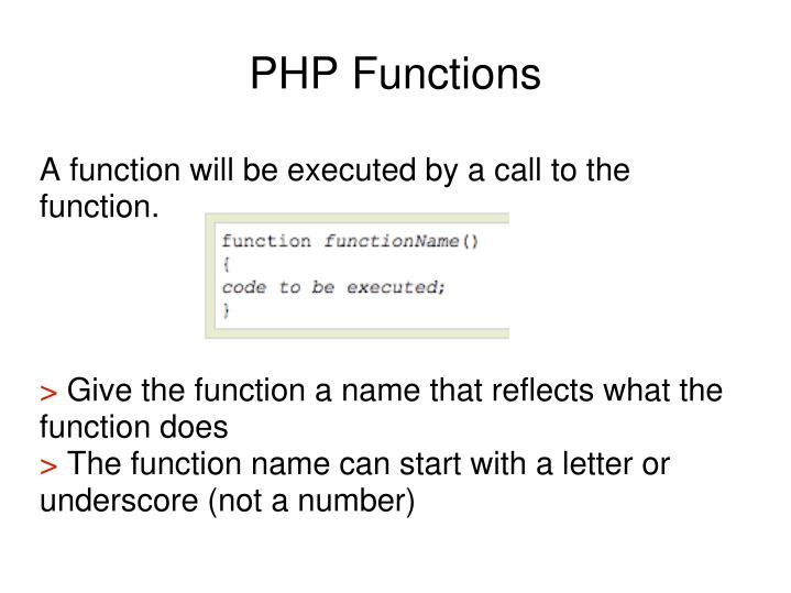 A function will be executed by a call to the function.