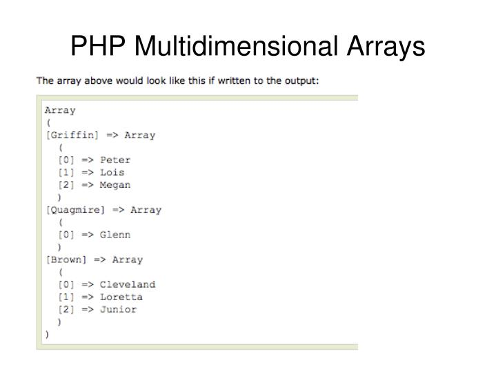 PHP Multidimensional Arrays