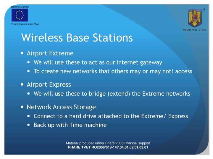 Wireless Base Stations
