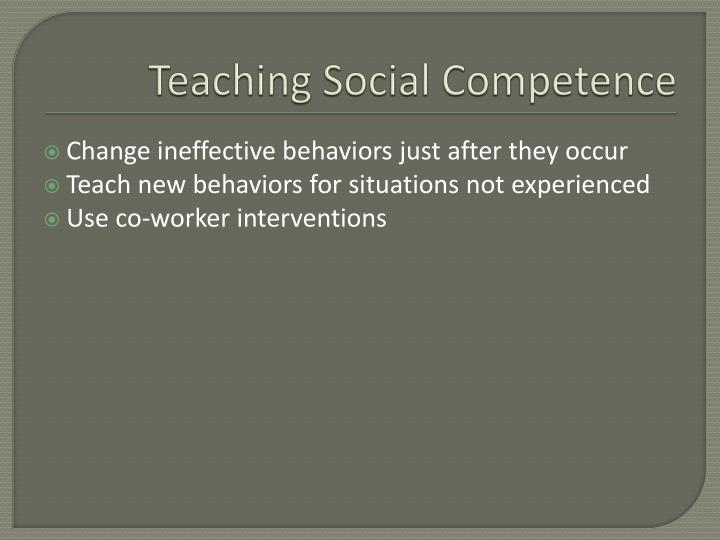 Teaching Social Competence