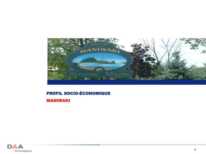 PROFIL SOCIO-ÉCONOMIQUE