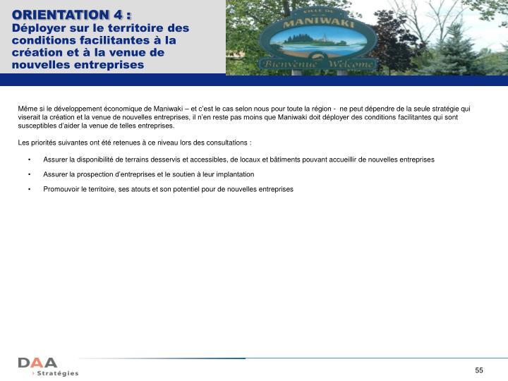 ORIENTATION 4 :