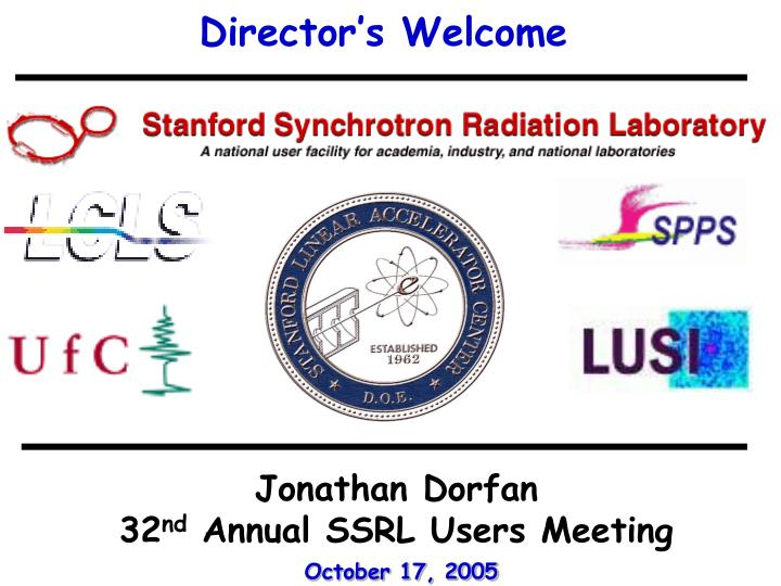 Director's Welcome