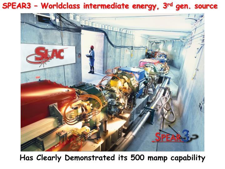 SPEAR3 – Worldclass intermediate energy, 3