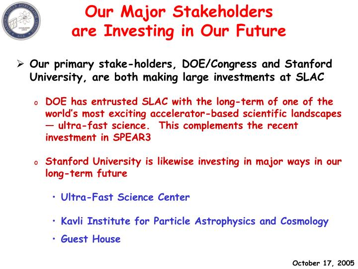 Our Major Stakeholders