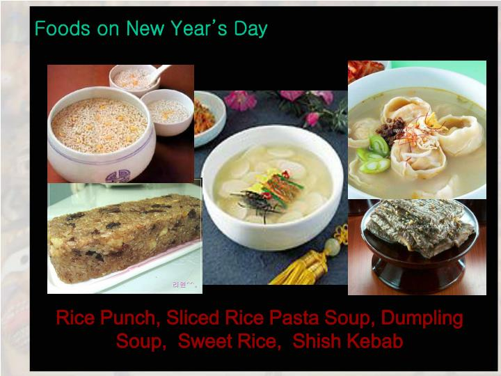 Foods on New Year's Day