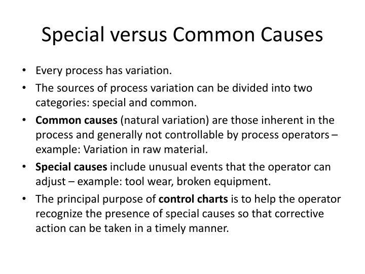 Special versus Common Causes