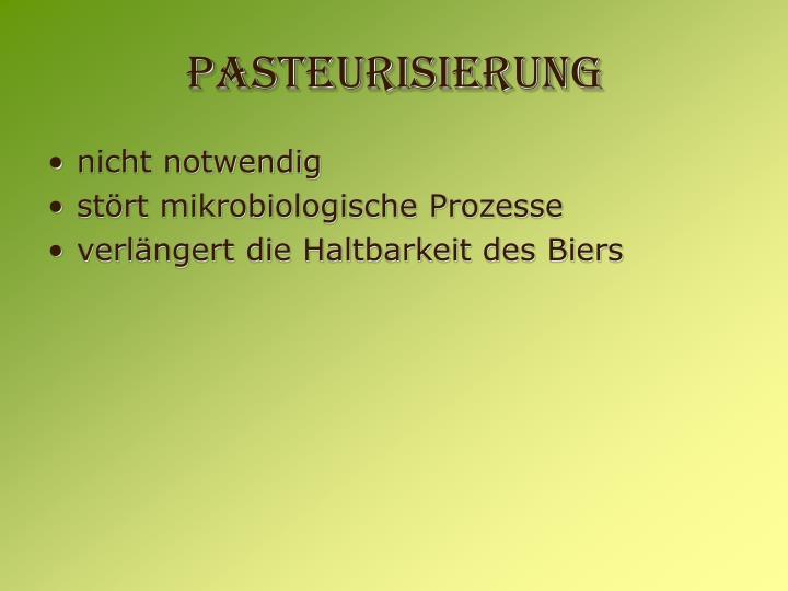 Pasteurisierung