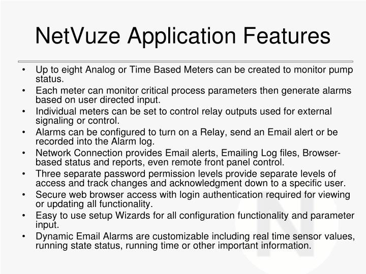 NetVuze Application Features