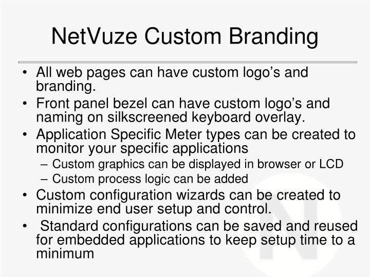 NetVuze Custom Branding