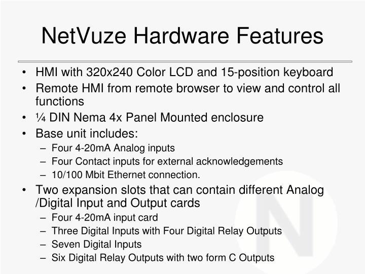 NetVuze Hardware Features