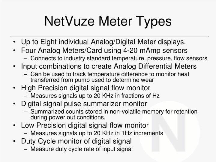 NetVuze Meter Types