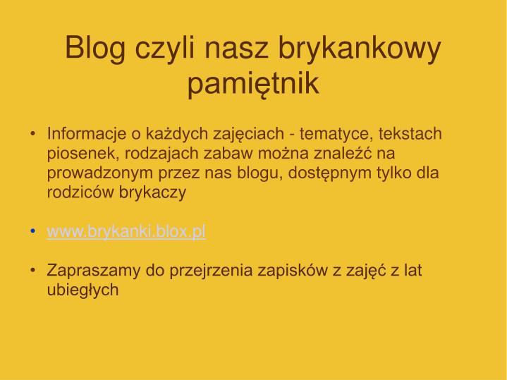 Blog czyli nasz brykankowy pamiętnik