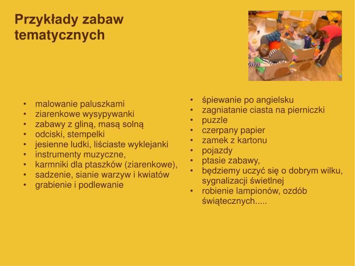 Przykłady zabaw