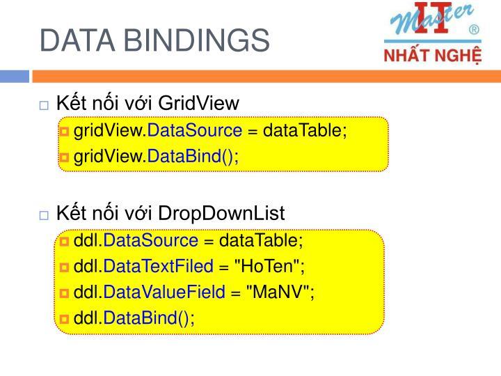 DATA BINDINGS