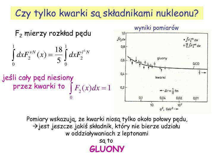 Czy tylko kwarki są składnikami nukleonu?