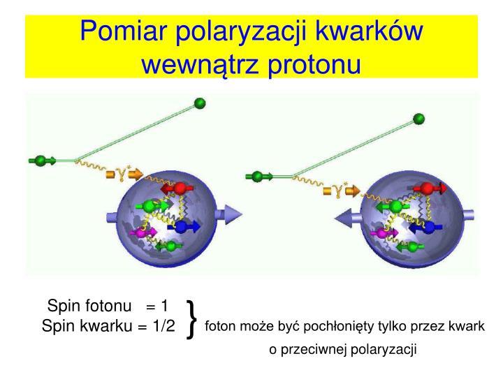 Pomiar polaryzacji kwarków