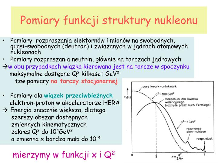 Pomiary funkcji struktury nukleonu