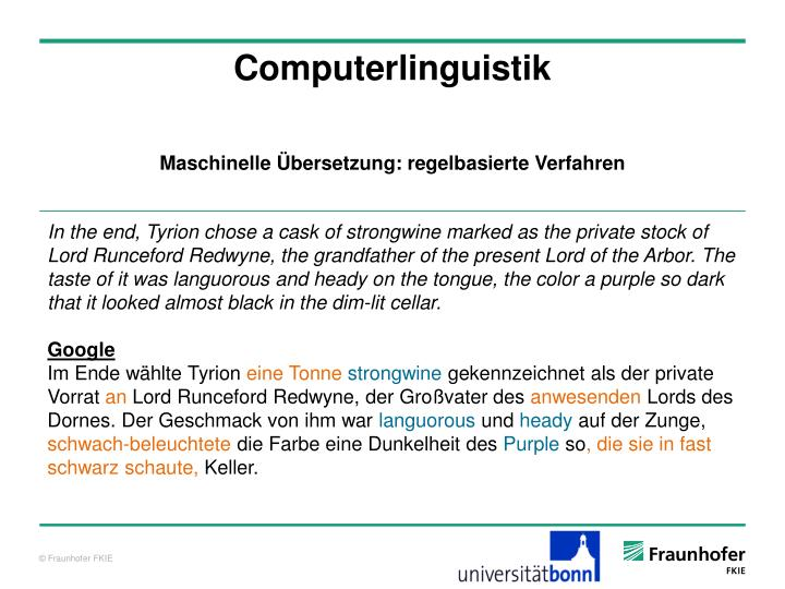 Computerlinguistik