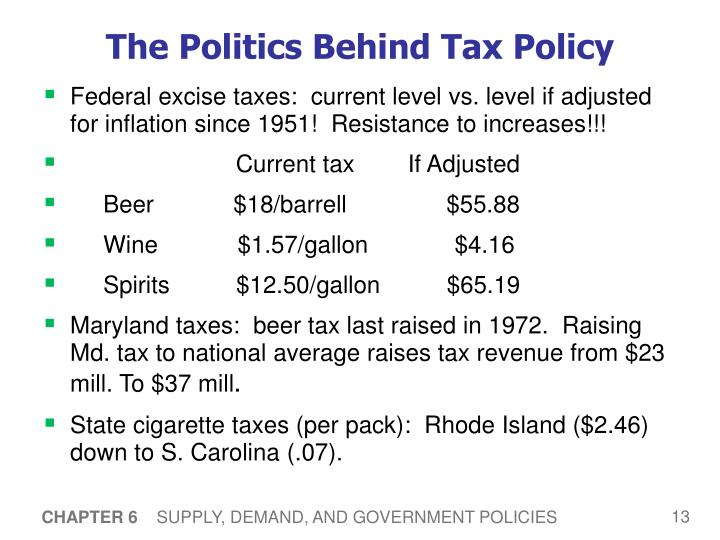 The Politics Behind Tax Policy