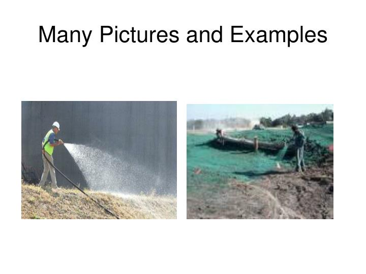 Many Pictures and Examples