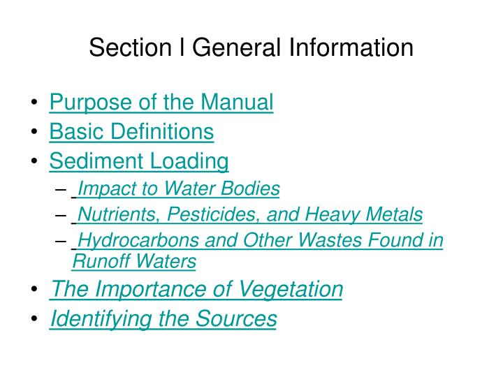 Section l General Information
