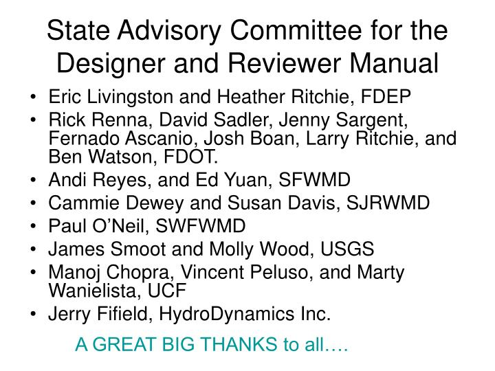 State Advisory Committee for the