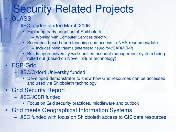 Security Related Projects