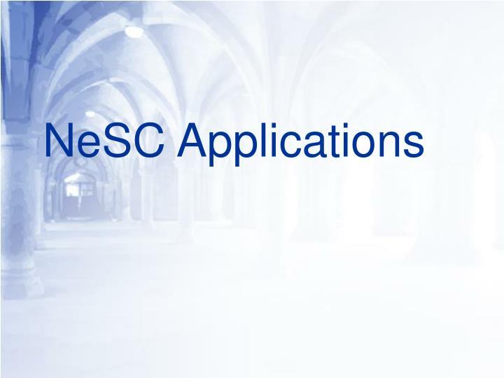 NeSC Applications