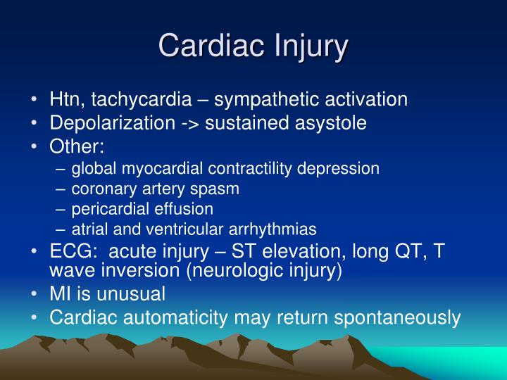 Cardiac Injury