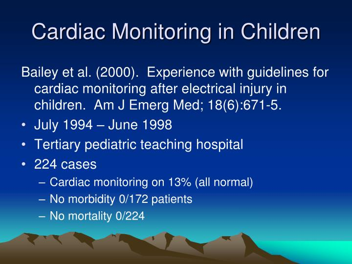 Cardiac Monitoring in Children