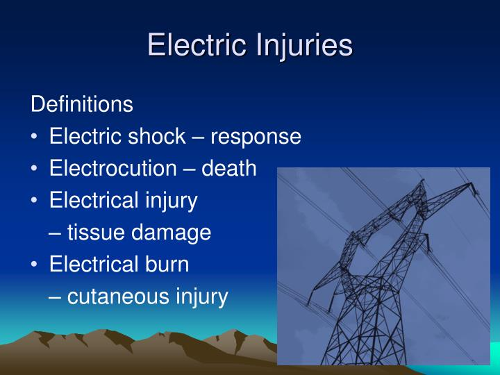 Electric injuries