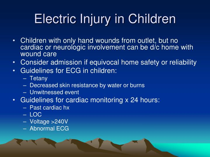 Electric Injury in Children