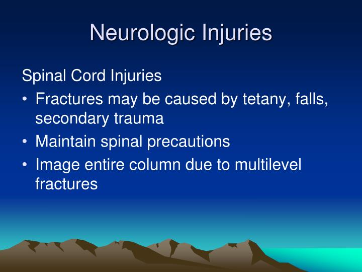 Neurologic Injuries